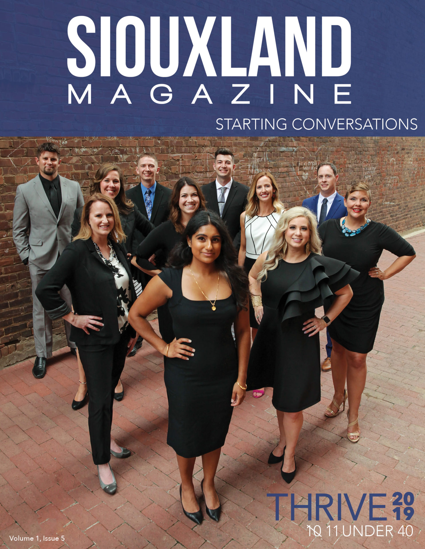 cover photo for 2019 issue of 10 under 40
